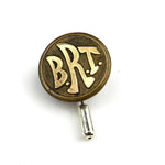 Brooklyn Rapid Transit - Vintage Button Pin - Brass