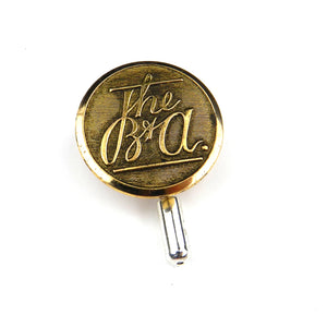 Boston and Albany Railroad Vintage Button Pin - Brass
