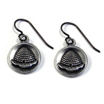 BEEHIVE Antique Button Earrings - Sterling Silverbronze.