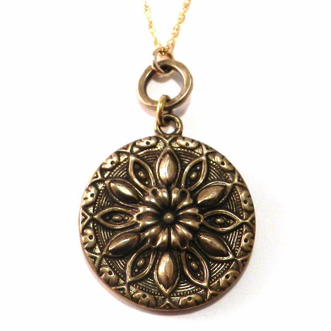 RADIANCE Antique Button Circlet Necklace - Bronze