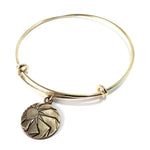HORIZONS Antique Button Bangle Charm Bracelet - GOLD
