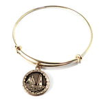 LIGHTHOUSE Antique Button Bangle Charm Bracelet - GOLD/BRONZE