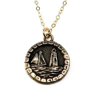 LIGHTHOUSE - Antique Button Necklace - GOLD