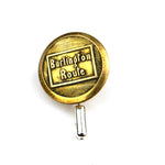 Burlington Route Railroad - Vintage Button Pin - Brass