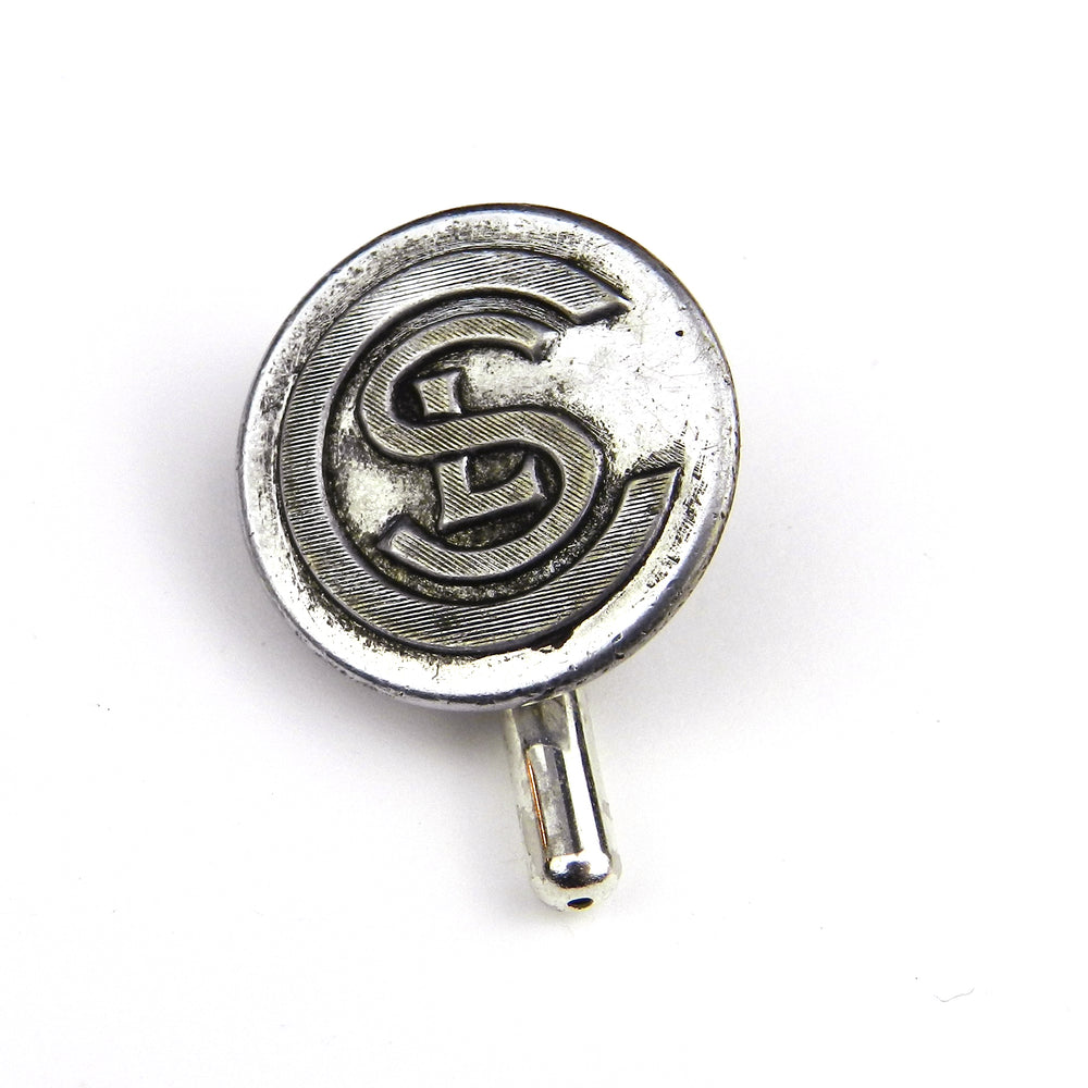 Chicago Short Line Railway Vintage Button Pin - Steel