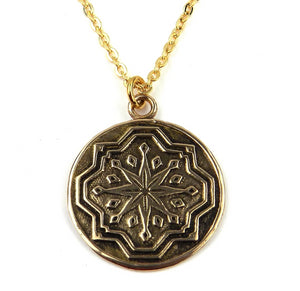 COMPASS ROSE STAR Necklace - GOLD