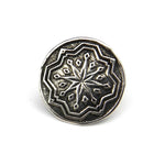 COMPASS STAR Antique Button Lapel or Hat Pin - SILVER or GOLD