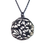 CAMELLIA Meiji Era Button Necklace - SILVER