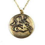 CAPRICORN - Victorian Zodiac Button Necklace
