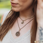 FIREFLY Vintage Button Necklace - GOLD