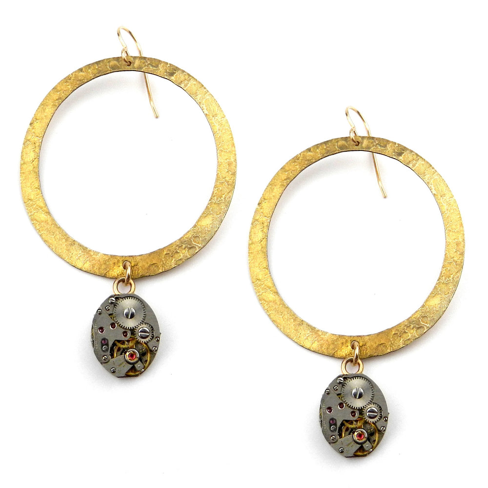 CLOCKWORK Halo Earrings - GOLD