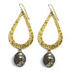 CLOCKWORK Duet Teardrop Earrings - GOLD