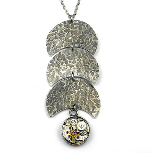 CLOCKWORK REFLECTIONS Necklace - SILVER