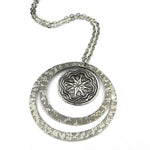 COMPASS ROSE STAR Echo Necklace - SILVER