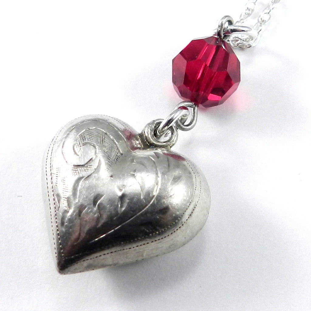 Victorian Heart Charm Necklace