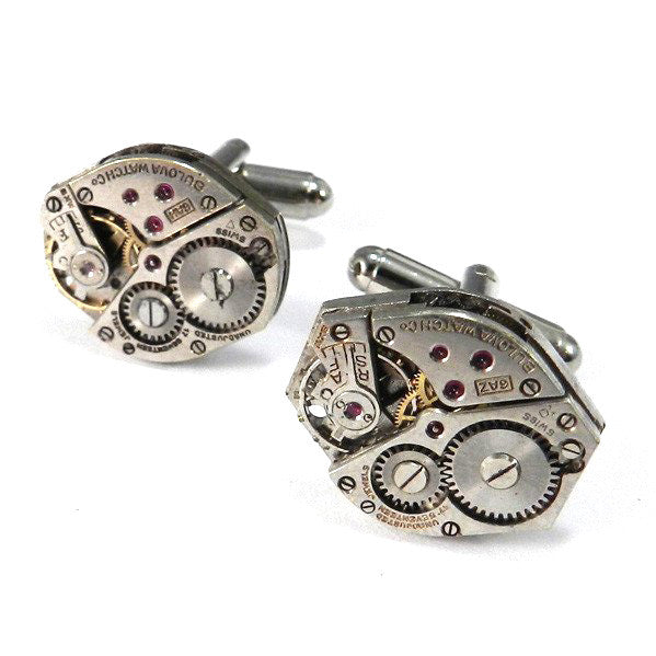 Industrial Watch Movement Cufflinks - Bulova
