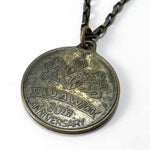 Vintage Union Medal - AFL CIO UAW Necklace - 1961