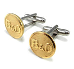 Baltimore & Ohio Railroad Uniform Button Cufflinks