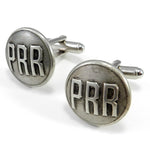 Pennsylvania Railroad Button Cufflinks - PRR - Steel