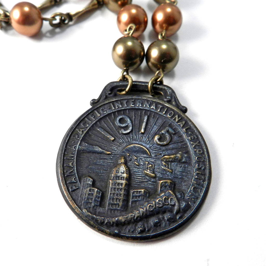 1915 Panama Pacific Exposition (PPIE) Medal - San Francisco World's Fair - Autumn Pearls