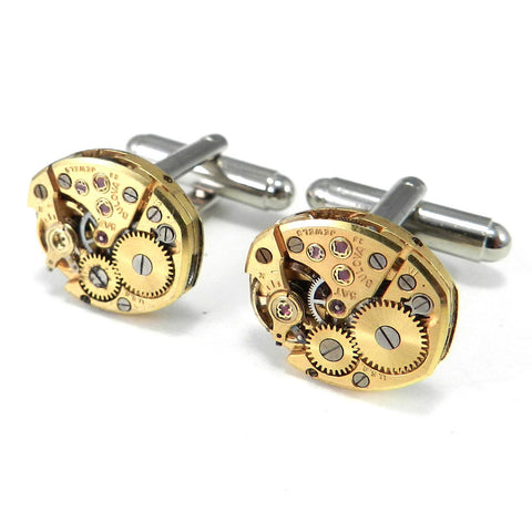 Vintage Watch Cufflinks - Gold Bulova