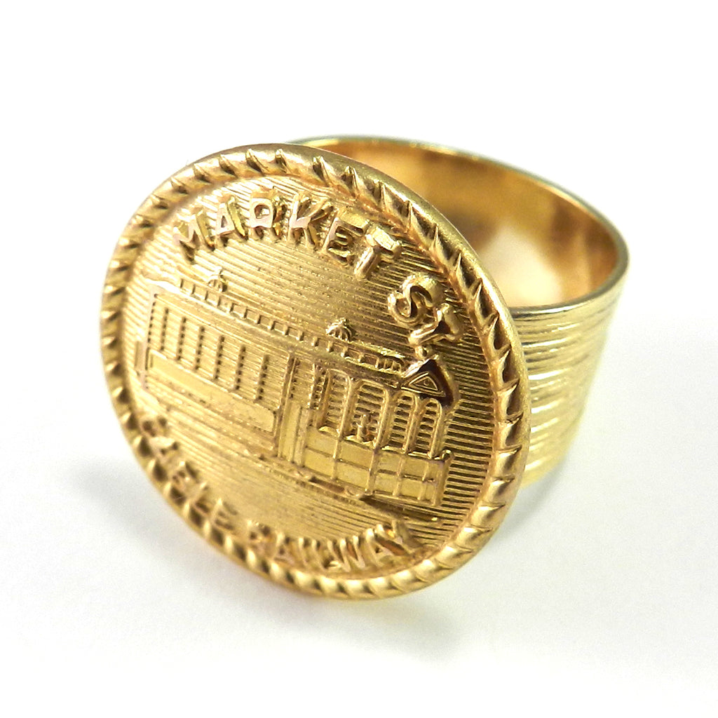Trolley Conductor Ring - San Francisco Market St. Cable Railway - Gold