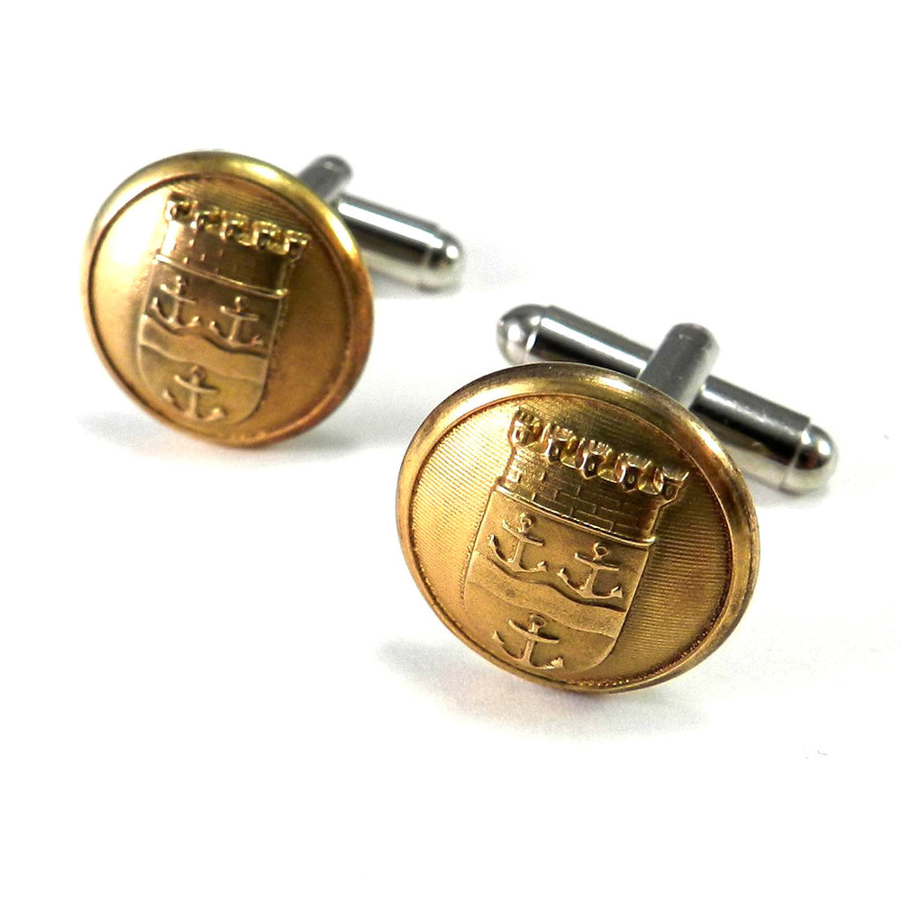 Swedish Navy Antique Uniform Button Cufflinks