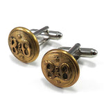 Baltimore & Ohio Railroad Button Cufflinks - Brass Star