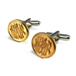 Alaska Railroad Cufflinks - White Pass Yukon Route - Brass