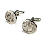 Alaska Railroad Cufflinks - White Pass and Yukon Route - Silver