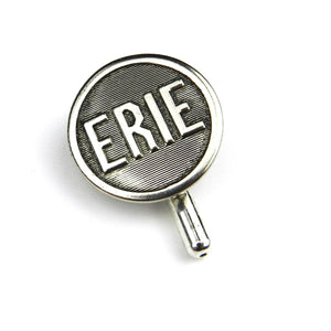 Erie Railroad Vintage Button Pin - Steel