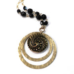 Eternity Vintage Button Echo Necklace - Onyx