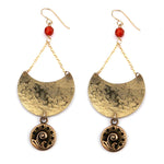 FERN / NAUTILUS Luna Earrings - GOLD
