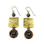 FERN / NAUTILUS Balance Earrings - GOLD