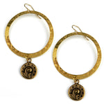 FERN / NAUTILUS Halo Earring - GOLD