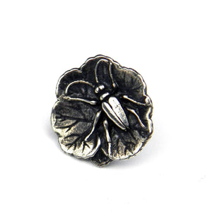 FIREFLY Antique Button Lapel or Hat Pin - SILVER or GOLD