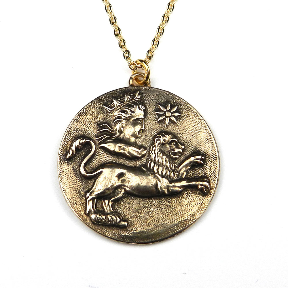LEO - Victorian Zodiac Button Necklace