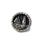 LIGHTHOUSE Antique Button Lapel or Hat Pin - SILVER or BRONZE