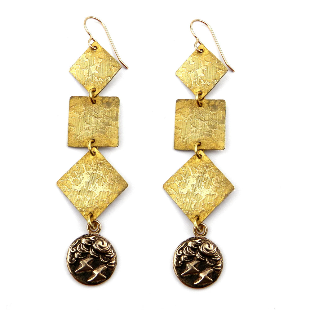 LIGHTNING Cascade Earrings - GOLD
