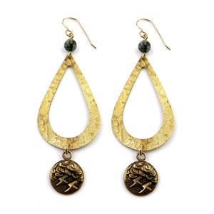 LIGHTNING Teardrop Earrings - GOLD