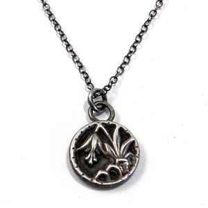 LILY Antique Button Necklace - SILVER
