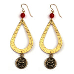 LOTUS Teardrop Earrings - GOLD