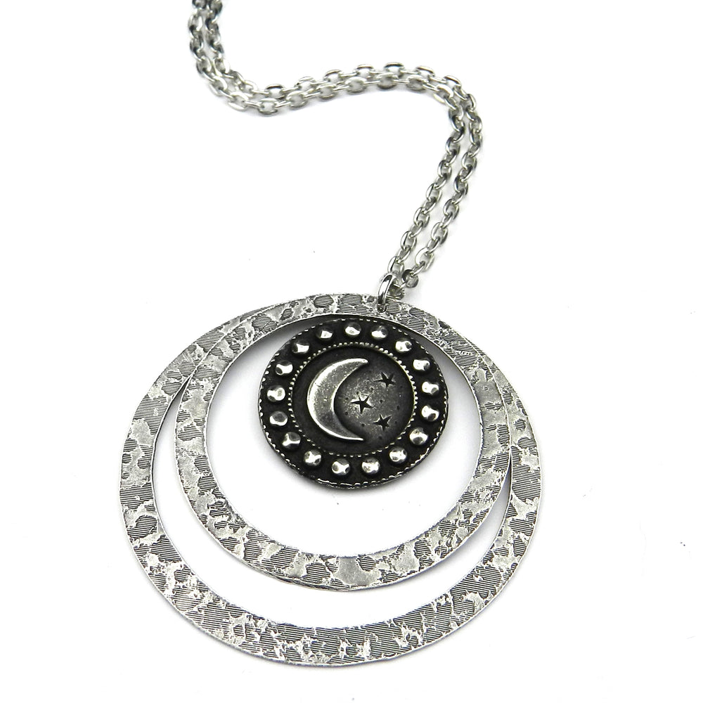 CRESCENT MOON (Large) Echo Necklace - SILVER