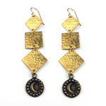 MOON Cascade Earrings - GOLD