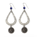 MOON Teardrop Earrings - SILVER