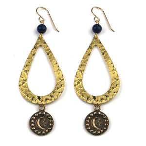 MOON Teardrop Earrings - GOLD