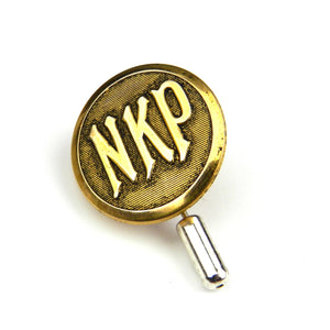 New York, Chicago and St. Louis Railroad Vintage Button Pin - Brass