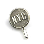 New York Central Railroad - Vintage Button Hat Pin / Lapel Pin - Steel