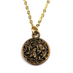 NECTAR Antique Button Necklace - GOLD