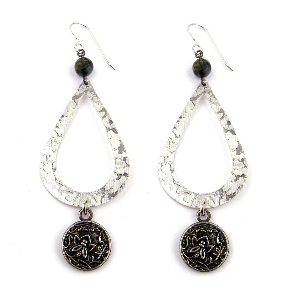 NECTAR Teardrop Earrings - SILVER